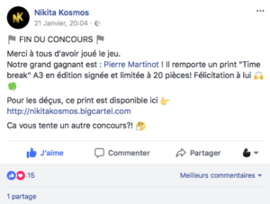 contest social media