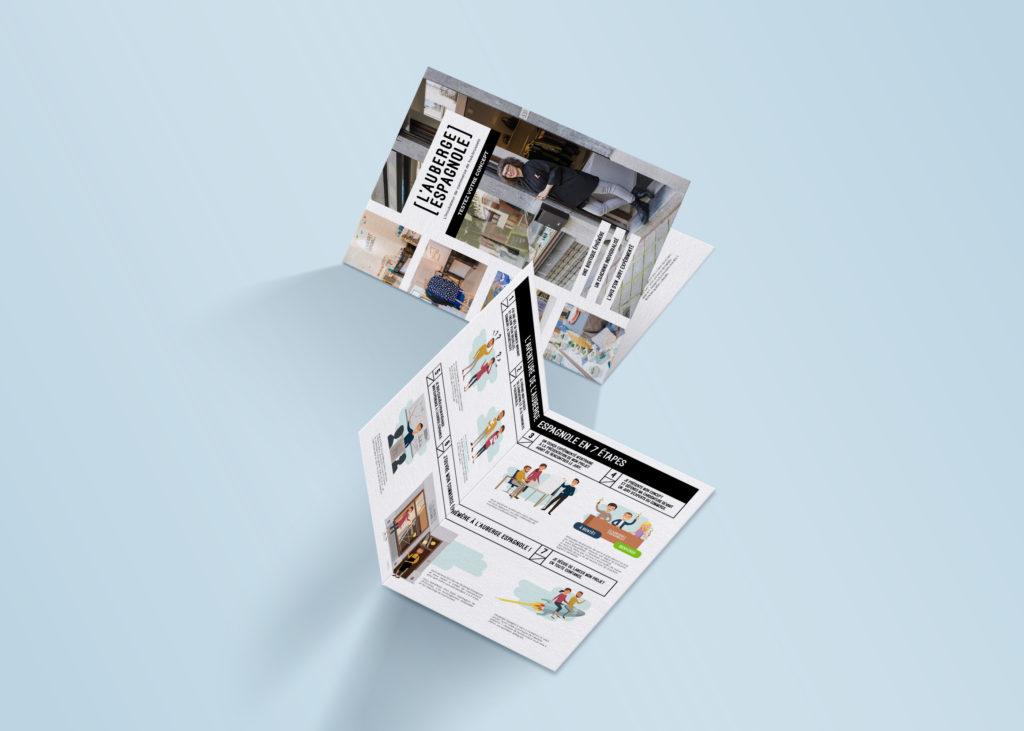 Brochure pop-up store