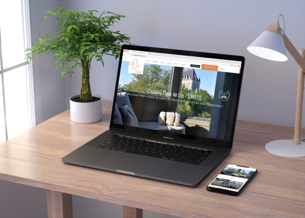 Site internet boutique hôtel