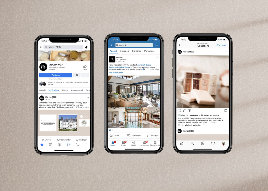 Social media hotel products