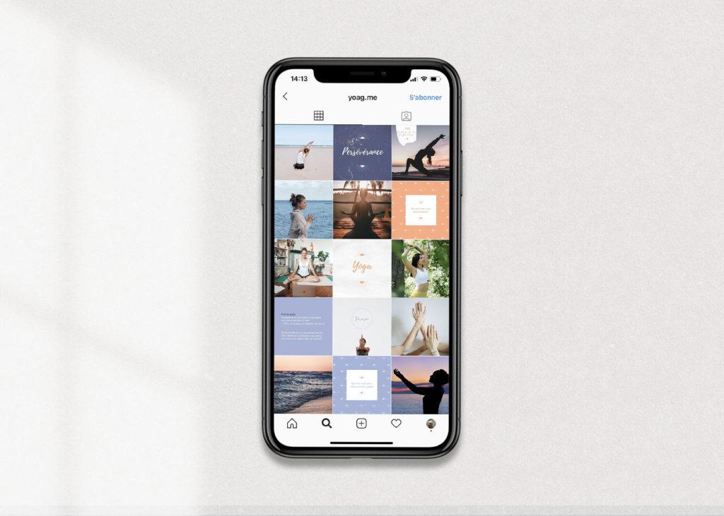 Yoga brand editorial line