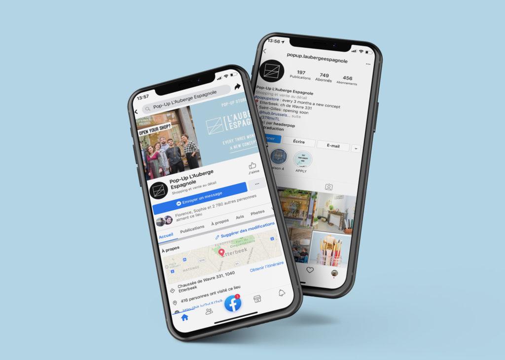 pop-up store social media