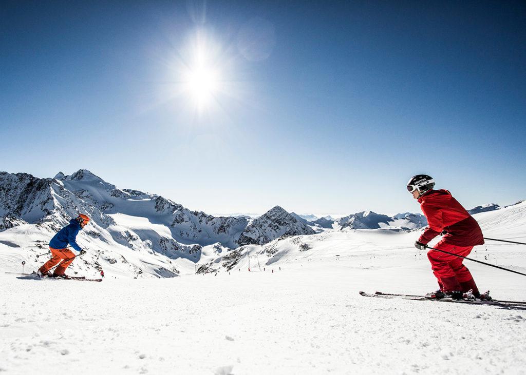 Ski station Stubai valley